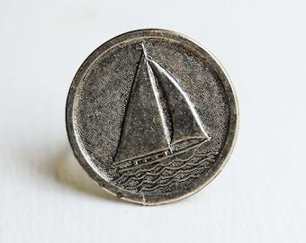 Silver Sailboat Ring