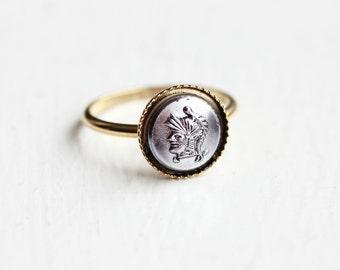 Gladiator Cameo Ring - Size 6
