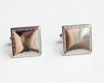 Silver Square Cuff Links