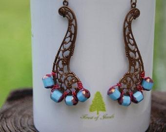 Vintaj Brass Sailboat Earrings