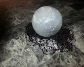 Selenite Crystal Sphere, 4 1/2 inches in Diameter, Very Popular Item