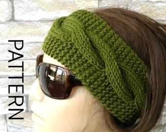 DIY Knitting PATTERN  PDF  Digital Headband Pattern   Instant Download   Cable Knit Headband  womens headband pattern Fall  Fashion