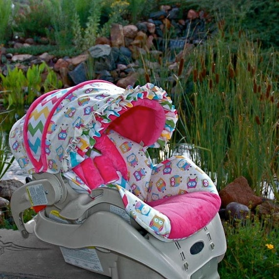 snugride custom repacement baby car seat cover owl. Black Bedroom Furniture Sets. Home Design Ideas