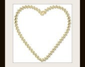 50x50mm Gold Wire Wrapped Heart Pendant - 1 pieces