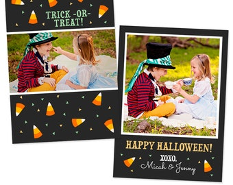 Halloween Photo Card Template 5x7 - INSTANT DOWNLOAD