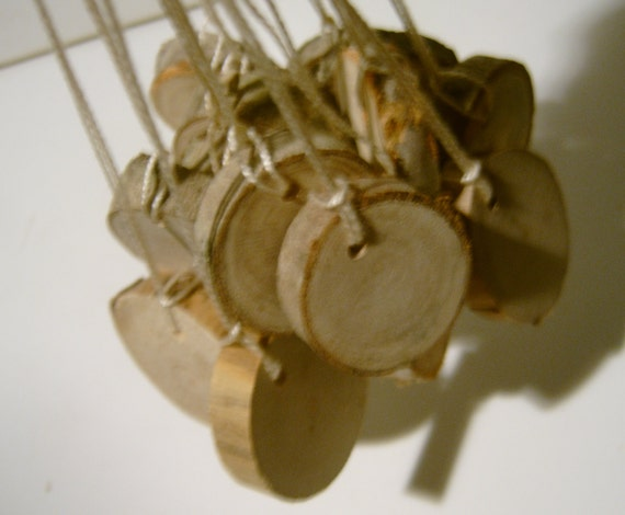 Hang Tag Blank Price Tag Unfinished Wood Tree Branch Slice Camp Party Favor Or Mason Jar Label 1 inch 60 tags