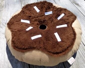 Fuzzy Donut Plush, Donut Pillow, Unique Pillow