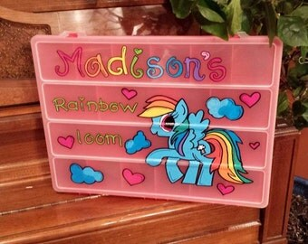 Personalized Rainbow loom Organizer