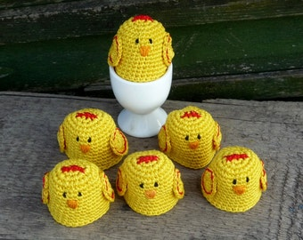 Crochet Egg Cozy - Chicken Egg Warmers - Crochet Chicken - Chicken Egg Cozy - Farmhouse Style Gift - Country Table Decoration - Gift for Mom