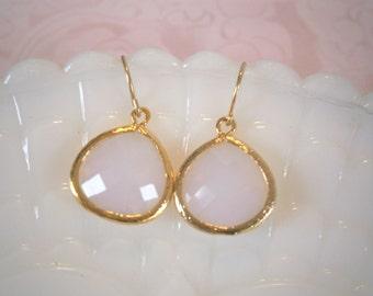 Opal Earrings, Gold Earrings, Mom Gift, Sister Gift, Wife Gift, Bridesmaids Earrings, Birthday, Graduation
