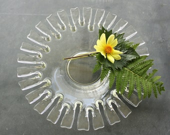 Vintage Mid Century Art Glass Center Bowl