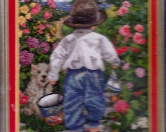 New Adventures, Counted Cross Stitch from the Janlynn Platinum Collection, 2002, 12.5 by 15 Inches