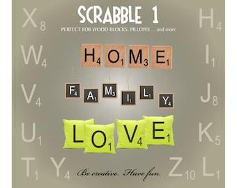 Scrabble Letters SVG Files, Scrabble Tile SVG, Scrabble Letter Tile Vectors, Cricut Scrabble Font, Ai Svg Gsd Eps, Letter Tiles SVG
