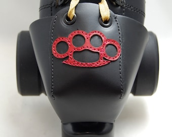 Leather Toe Guards with Red Brass Knuckles