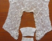 Vintage Irish Crochet Sailor Style Collar and Cuffs - Edwardian Era