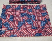 New Craft Felt Sheets American Flag Printed Crafting Fun Art and Crafts Supplies--5 Sheets