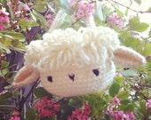 lamb basket bag - crochet pattern - PDF