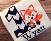 Personalized Fox Birthday Shirt - Fox Birthday Shirt - Woodland Birthday Party - Fox Shirt