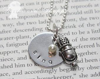 Petite Silver Antique SING  necklace
