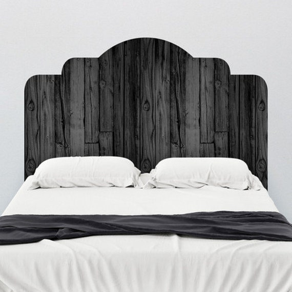 white wooden headboard items similar to black stained wood adhesive headboard 28793