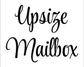 Upsize your Mailbox Decal - Add-on Listing
