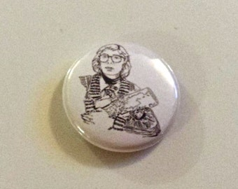 Log Lady Twin Peaks Pinback Button from Original Art by Maxx