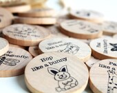 Animal Action -  Wooden Travel Game - A Montessori and Waldorf Inspired Game of Gestures and Charades