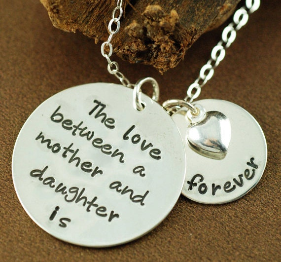 The Original Love Between a Mother and Daughter,  Hand Stamped Mommy Necklace. Personalized Jewelry, Mommy Necklace, Hand Stamped Necklace