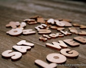 Alphabet Letters Wooden Miniatures for Montessori Uppercase and Lowercase