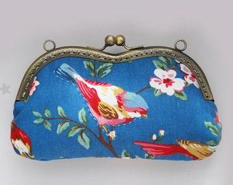 Vintage Blue Birds Glasses case