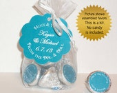 wedding favor kit (No.k1) from the mr and mrs organza bags hang tags