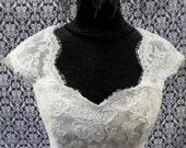 Detachable Ivory Lace Cap Sleeves for Wedding Gown