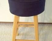 Black Barstool Slipcover Cushion Round Barstool Washable Slipcover