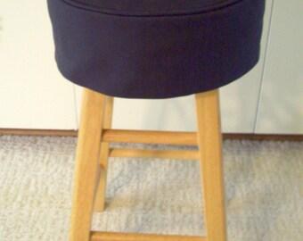 Black Barstool Slipcover with Cushion Round Bar stool Cover Bar Stool Slipcover & Barstool slipcovers | Etsy islam-shia.org