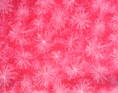 "Watermelon Pink Starburst100% Cotton Fabric Remnant 26"" X 34"""