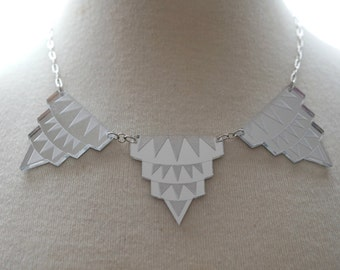 Empire State of Mind Necklace in Silver Mirror
