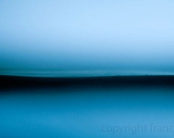 blue light fine art photograph minimal seascape abstract landscape photo
