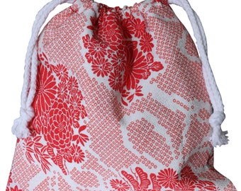 Vintage Shibori Style Cosmetics Toiletries Holiday Bag