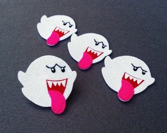 Boo Mario brothers Felt Applique (Set of 4 pieces)