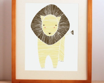 Jungle Nursery Art, Safari Nursery Art, Jungle Lion, Lion Art, Nursery Decor, Baby Lion, Nursery Wall Art, Jungle Nursery, Zoo Nursery