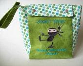 Choose Crochet Hook or Knitting Needles Held by Craft Ninja on Project Bag