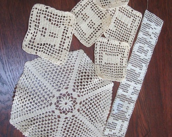 Vintage Crochet Mother Doily Letters D A H I L Craft Projects Supplies