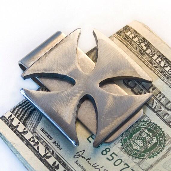Iron Cross Money Clip / Best Man Gift, Groomsmen Gift, Wedding Gift or Mens Gift Mens Money Clip Handmade by WATTO Distinctive Metal Wear