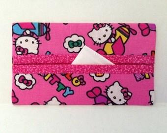 Hello Kitty Tissue Cozy/Gift Card Holder/Party Favor/Wedding Favor