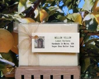Lemon Verbena Soap, MELLOW YELLOW, Homemade Scented Soap Bars, Hippie Soap