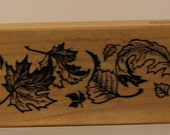 TUMBLING Autumn Leaves PSX Rubber Stamp