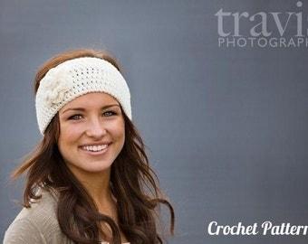 CROCHET PATTERN PDF - Crocheted Flower Headband / Earwarmer / headwrap - Can Sell Items Made From Pattern, instant download, yarntwisted