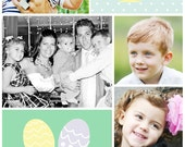 Spring or Easter Eggs Monogram (you print) photo card - 4x6 or 5x7