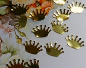 50 upcycled vintage gold foil crowns