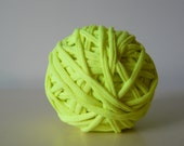 Recycled Tshirt Yarn - Neon yellow-  44yds- RT965